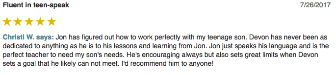 Christi left a 5 star review for Guitar Lessons In Arlington TX
