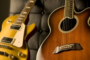 An electric or an acoustic guitar is good for guitar lessons in arlington tx